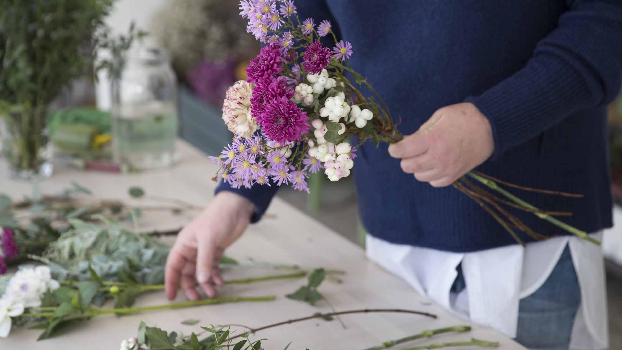 Teamevent-Blumen binden-Bild1