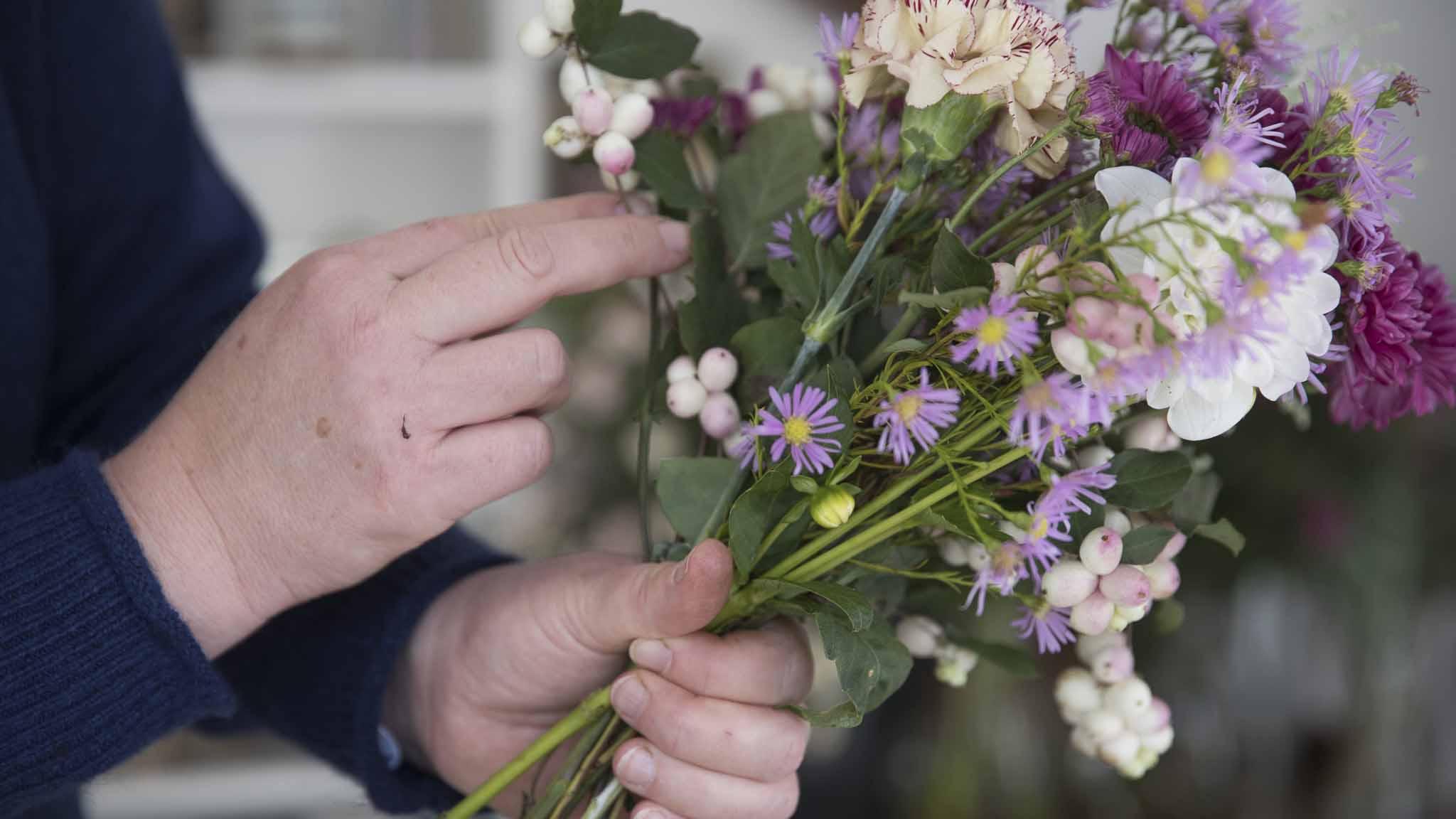 Teamevent-Blumen binden-Bild2