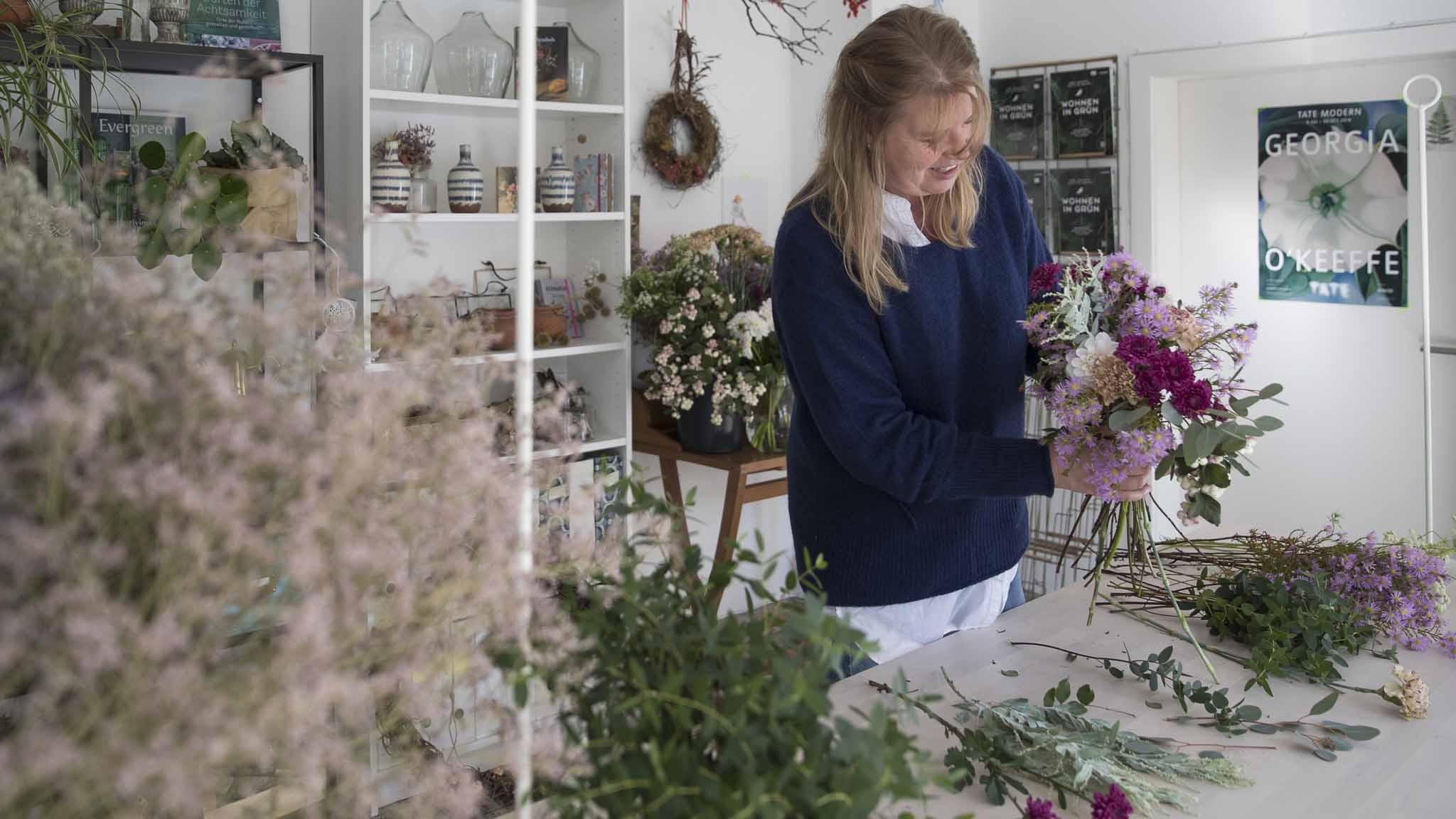 Teamevent-Blumen binden Bild3