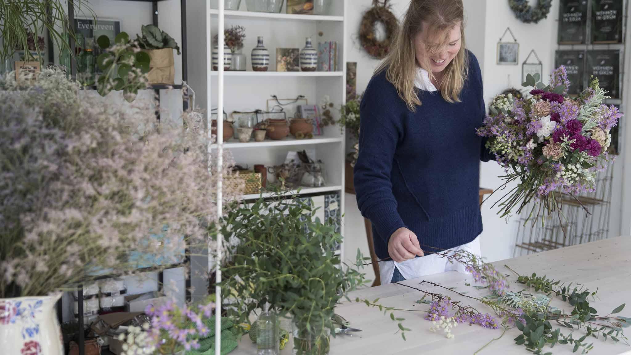 Teamevent-Blumen binden Bild5