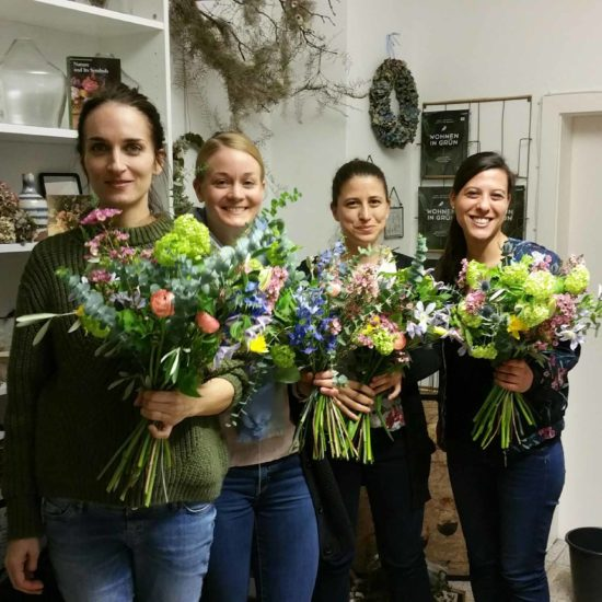 Teamevent-Blumen binden Front Bild