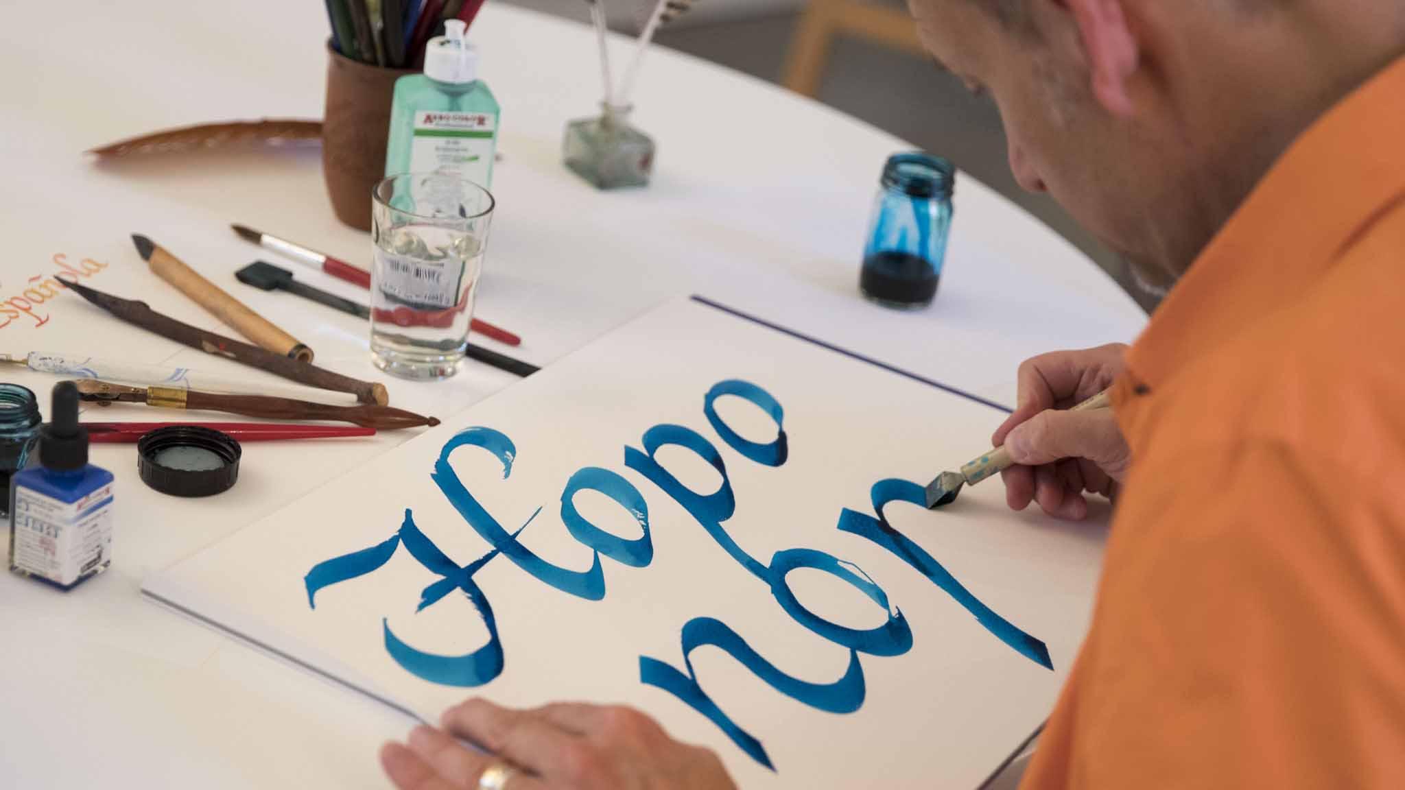 Teamevent-Kalligraphie&Handlettering-Bild1
