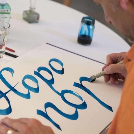Teamevent-Kalligraphie&Handlettering-Front Bild