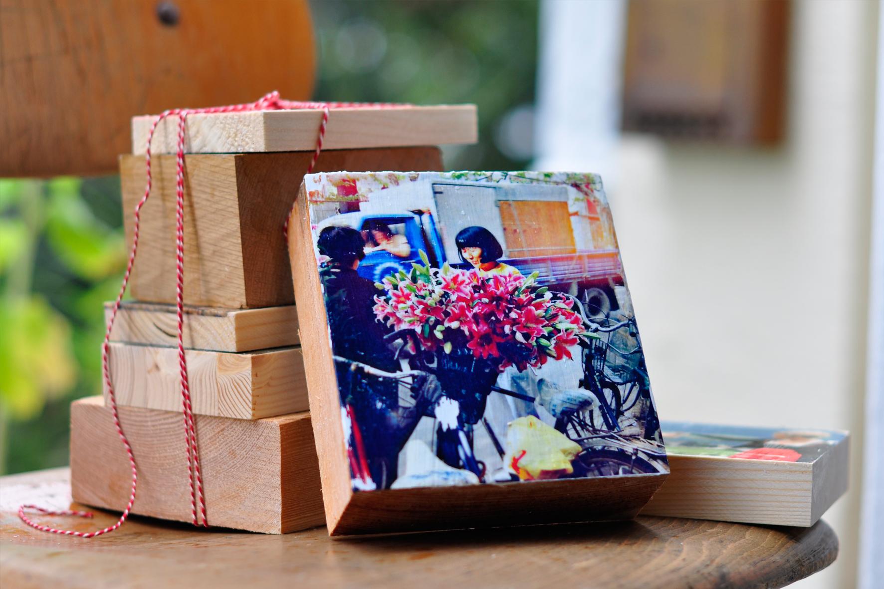 Holzdruck Geschenke- Beispiel